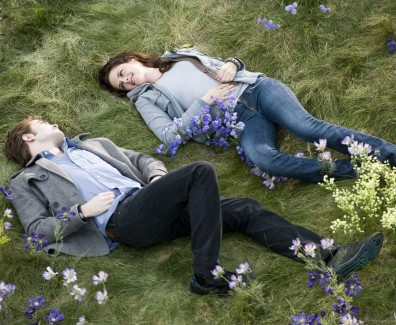 Love Couple Lying On Grass And Flowers HD Wallpaper - LoveWallpapers4u.Blogspot.Com