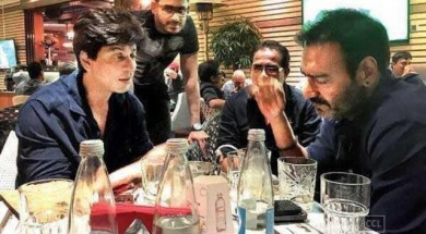 SRK and Ajay Devgn dinner image